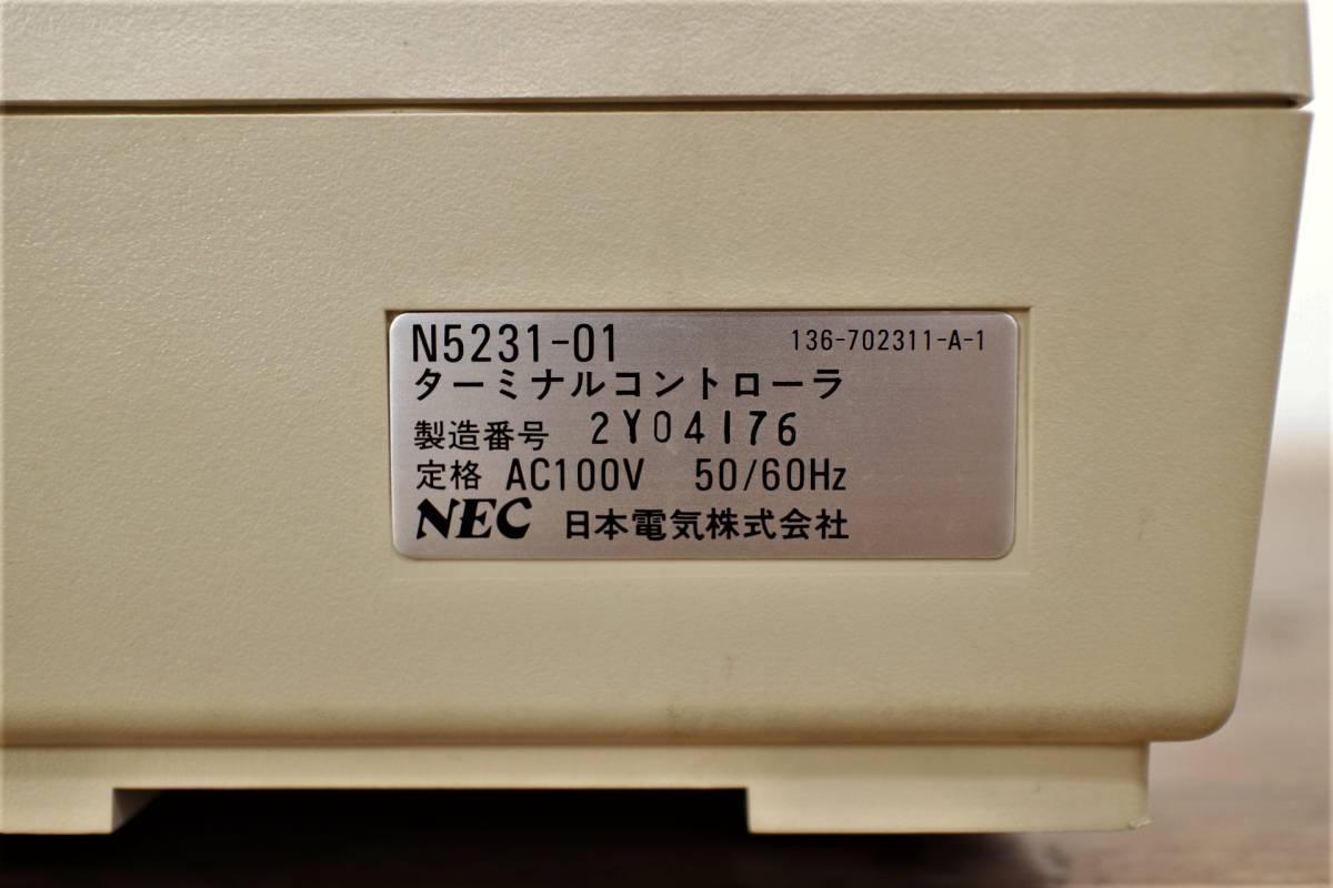 NEC パーソナルコンピュータ N5200 モデル05 ターミナルコントローラ N5231-01 元箱付 モニター パソコン_画像5