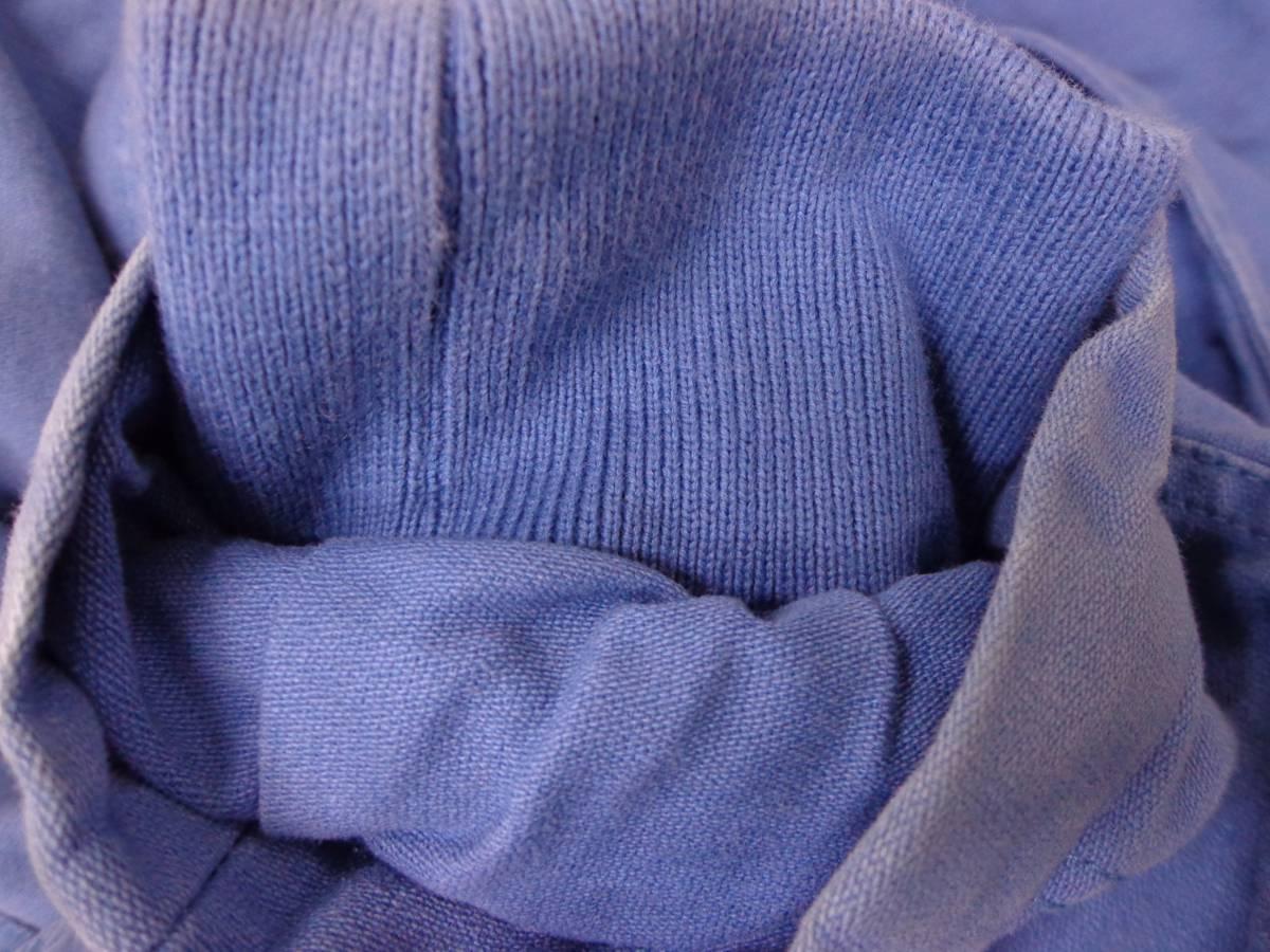 806 AS KNOW AS アズノゥアズ 秋冬物 定番アウター 綿100% キルティング ワッペン 中綿 天然ファー ラクーン ショート丈 モッズコート 青_画像8