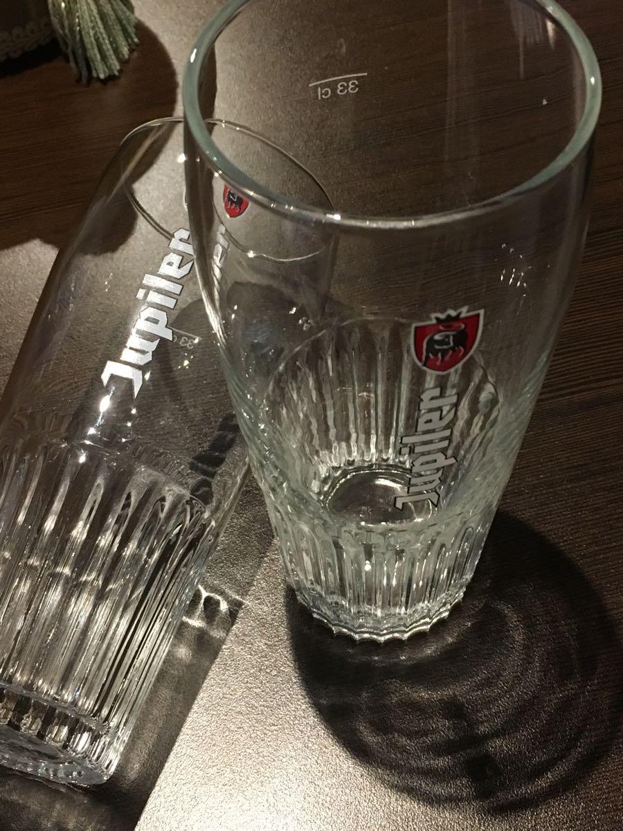ベルギー ビール ジュピラー グラス 2個セット_画像2