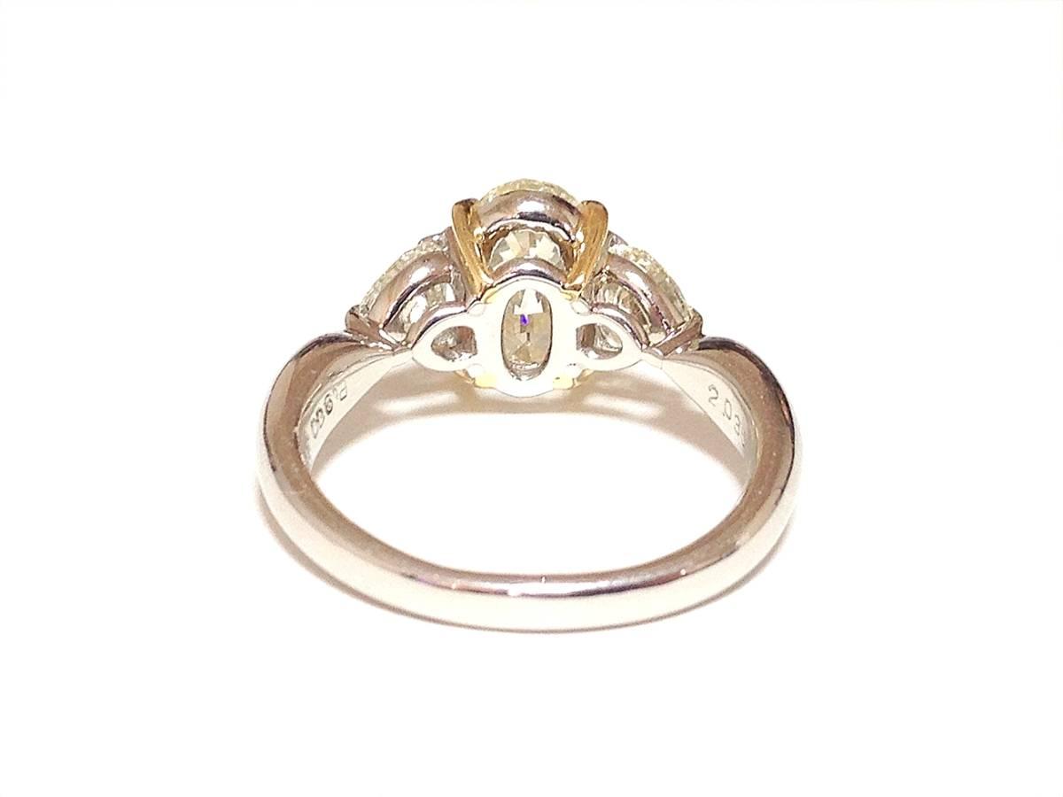 必見!美しく輝かせる大変ゴージャスな2.036カラットダイヤリング脇石0ハートシェイプ0.885ct セレブでエレガントなダイヤPTリングです_画像4