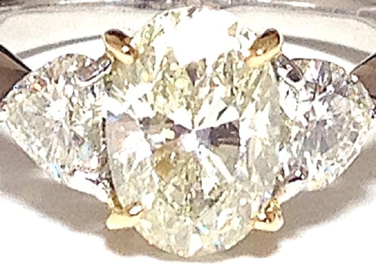 必見!美しく輝かせる大変ゴージャスな2.036カラットダイヤリング脇石0ハートシェイプ0.885ct セレブでエレガントなダイヤPTリングです_画像8