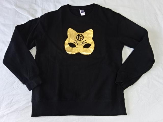 2■ パスピエ 金の猫面 トレーナー Lサイズ 娑婆めぐりツアーグッズ