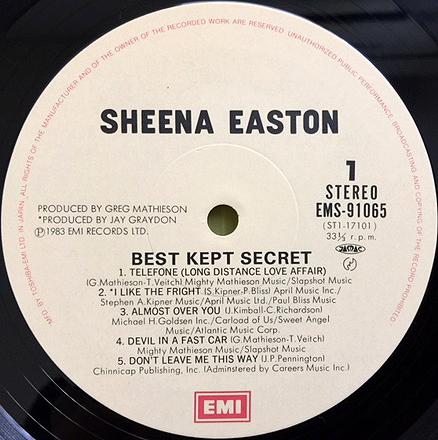 ★シーナ・イーストン「秘密」帯付LP(1983年)初回プレス特典特大ポスター付/美盤★_画像8