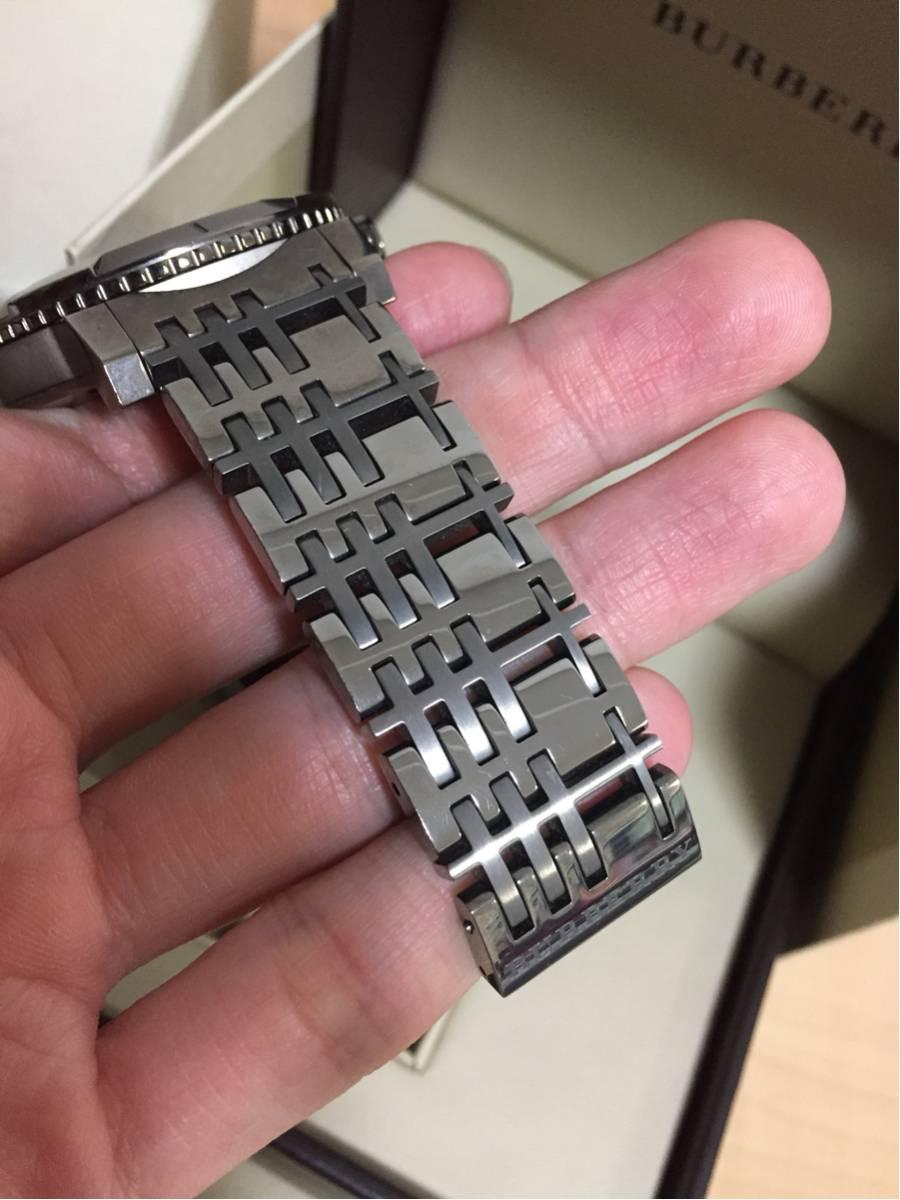 BURBERRYバーバリーBU2305チェック柄クロノグラフ時計付属品有_画像3