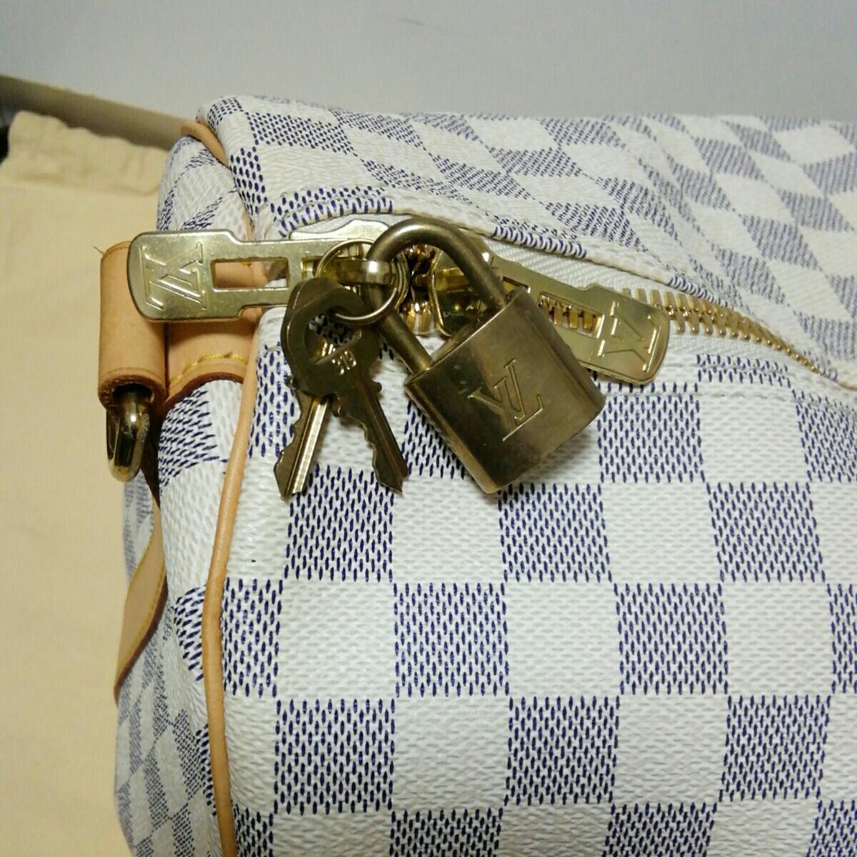 美品 LOUIS VUITTON ルイ ヴィトン ダミエ アズール キーポル バンドリエール 55 ボストン バッグ 人気 1円スタート MB1016_画像3