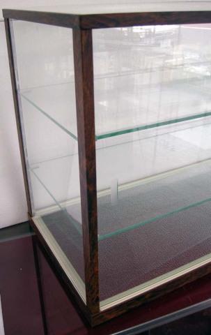 木製風ガラスショーケースW90cm レトロ・アンティーク調 コレクションケースとしても 都内23区送料1,000円_画像4