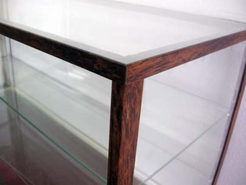 木製風ガラスショーケースW90cm レトロ・アンティーク調 コレクションケースとしても 都内23区送料1,000円_画像5