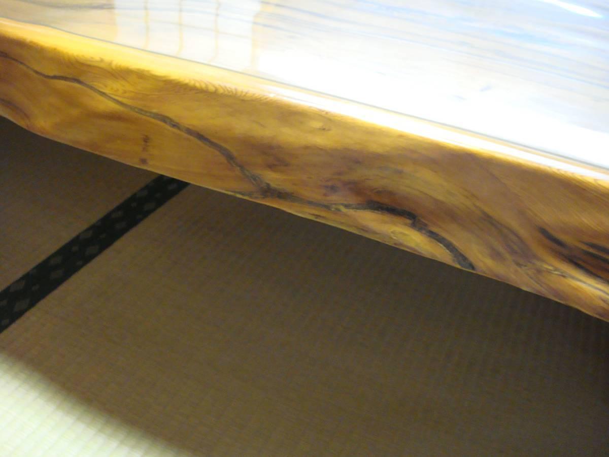 屋久杉 大型テーブル 200cm×110cm 一枚板 送料無料_画像8