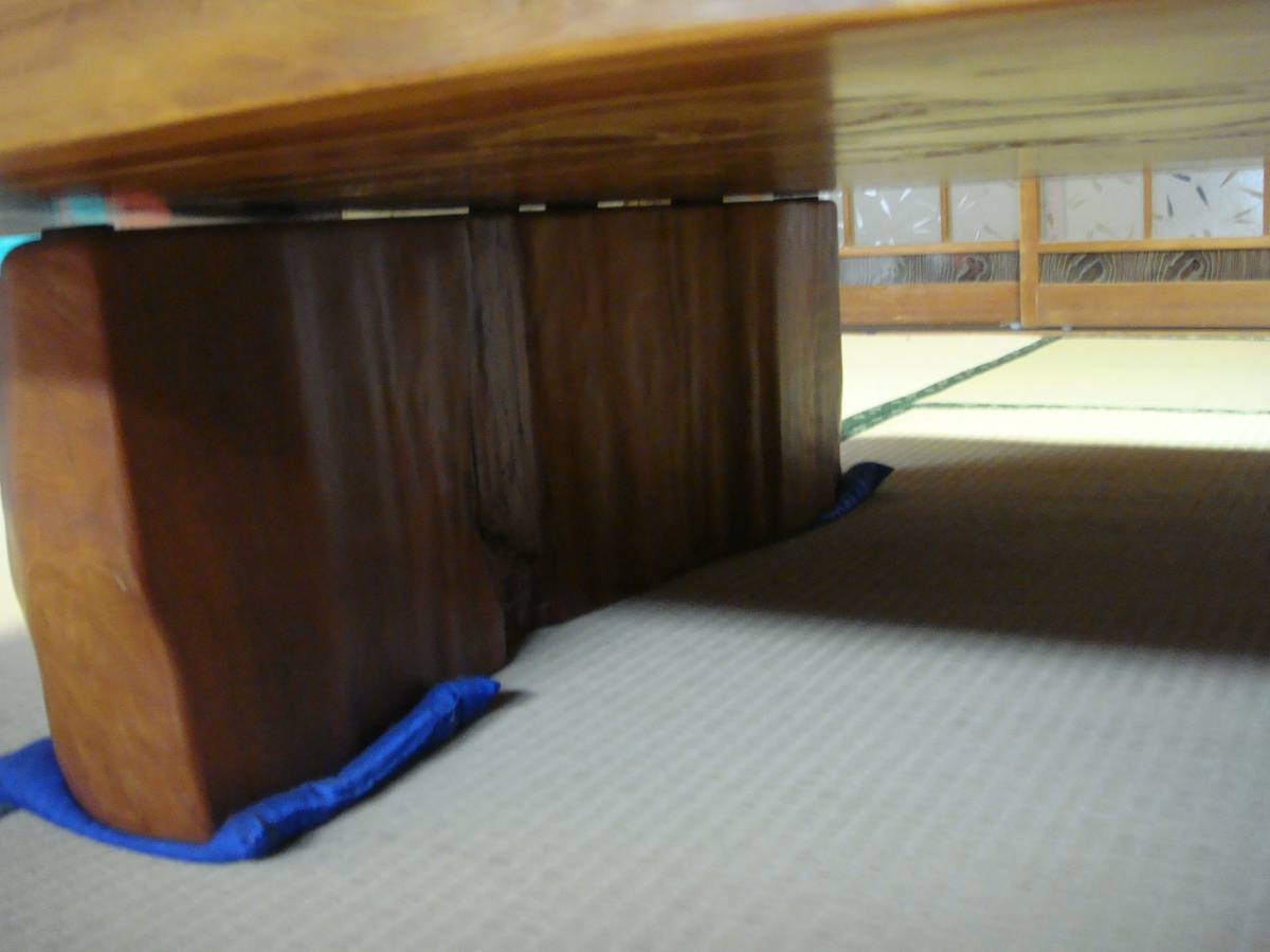 屋久杉 大型テーブル 200cm×110cm 一枚板 送料無料_画像7