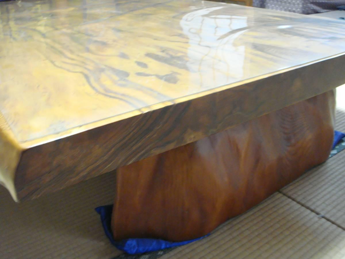 屋久杉 大型テーブル 200cm×110cm 一枚板 送料無料_画像9