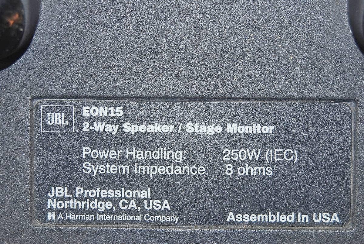 JBL EON15 スピーカー PA機器 USA 音出し確認済_画像4