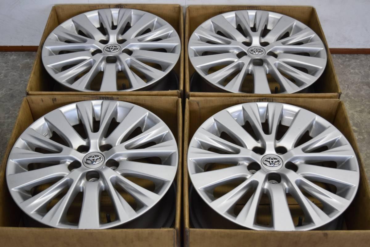【美品】トヨタ 20 アルファード ヴェルファイア 後期 純正 18in 7.5J +45 ノア ヴォクシー ハリアー 流用にも スタッドレス タイヤ別売可