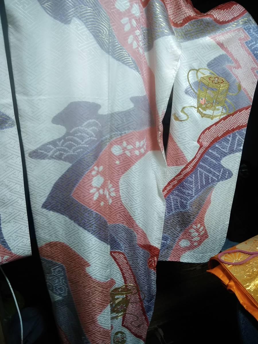 三越特選総絞り金駒豪華古典花刺繍定価90万円未使用ゴールド箔西陣85万円袋帯セットクリスマスに値下げ致しました。(笑)