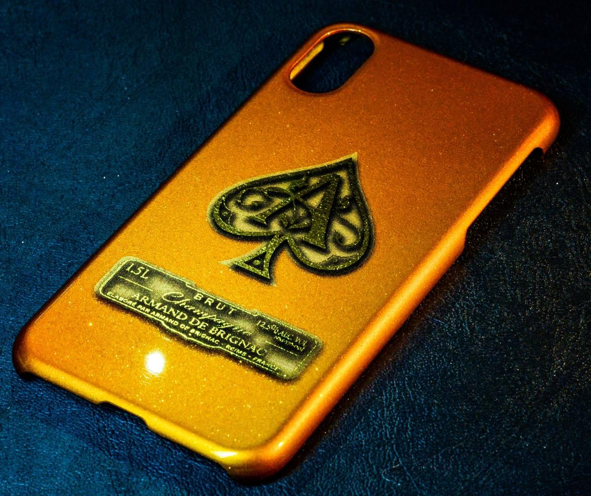 iPhoneX ケース カバー カスタムペイント キャンディゴールド ラメ フレーク アルマンド ARMAND アイコス カスタム_画像3