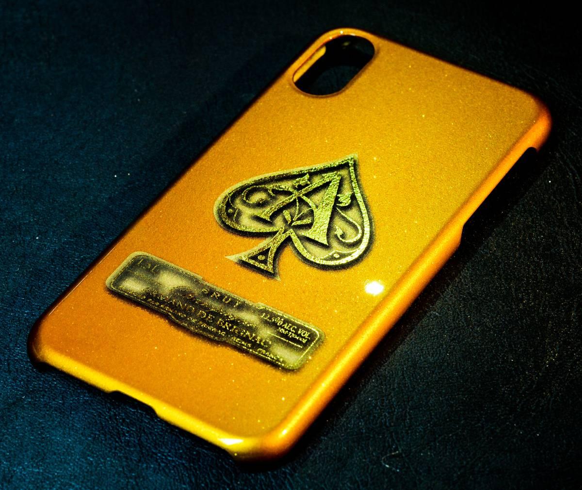 iPhoneX ケース カバー カスタムペイント キャンディゴールド ラメ フレーク アルマンド ARMAND アイコス カスタム_画像2