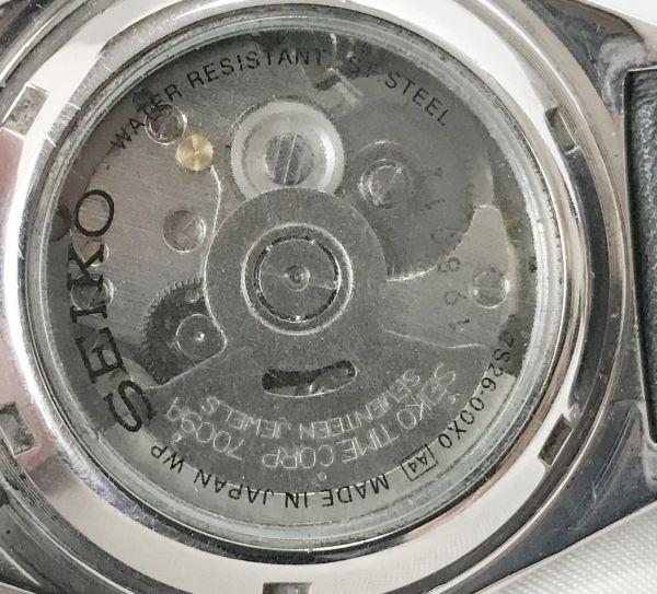 極美品★セイコー5 ヴィンテージ アンティーク 自動巻き ゴールド メンズ腕時計☆裏スケルトン_画像3