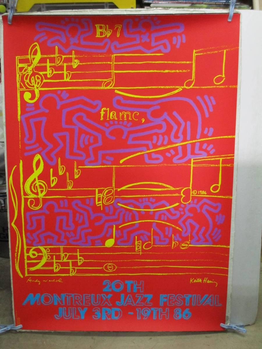 y37【アンディウォーホル+キースヘリング】B1ポスター/第20回モントレージャズフェスティバル1986.7.3/アートポスター/ポップアート