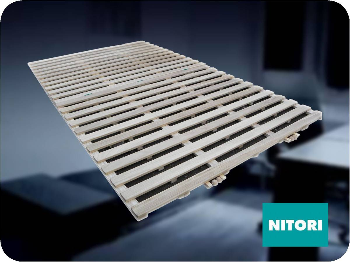 NITORI/ニトリ セミダブルサイズ すのこベッド 1205×2000 引取限定