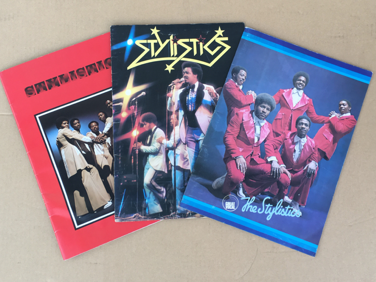 The Stylistics パンフレット 3冊 スタイリスティックス フィラデルフィア・ソウル
