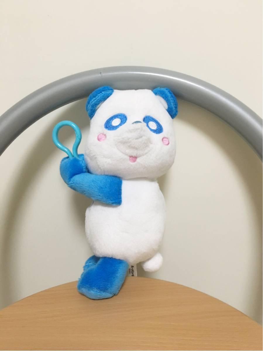 AAA え~パンダ ぶら下がり ぬいぐるみ ポーチ 青 ブルー 與真司郎 アミューズメント専用景品 一般市販されていません。