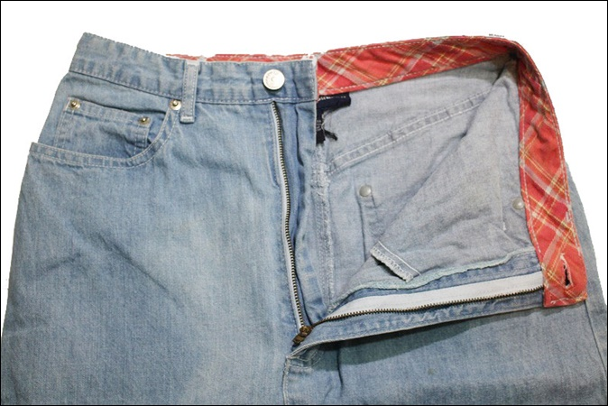 【8】 POLO RALPH LAUREN ポロ ラルフローレン デニム ロング スカート USA製 Aライン ビンテージ ヴィンテージ 古着 オールド EE52_画像4