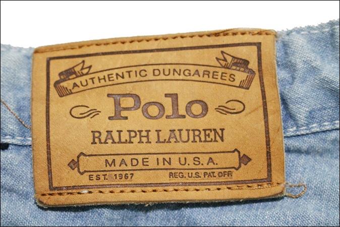 【8】 POLO RALPH LAUREN ポロ ラルフローレン デニム ロング スカート USA製 Aライン ビンテージ ヴィンテージ 古着 オールド EE52_画像6
