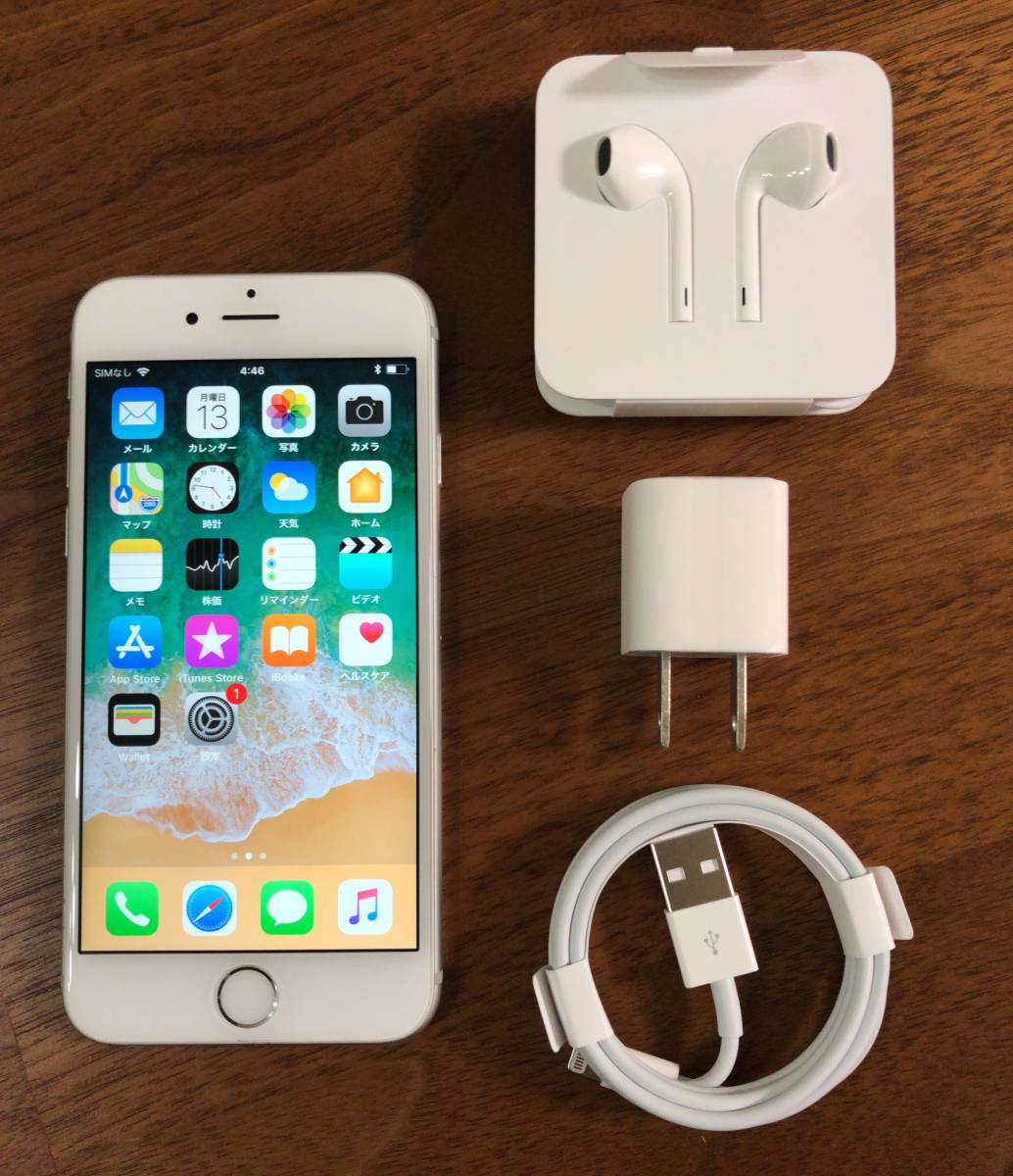 【美品】Apple iPhone6s 128GB シルバー / au購入 SIMロック解除済み SIMフリー