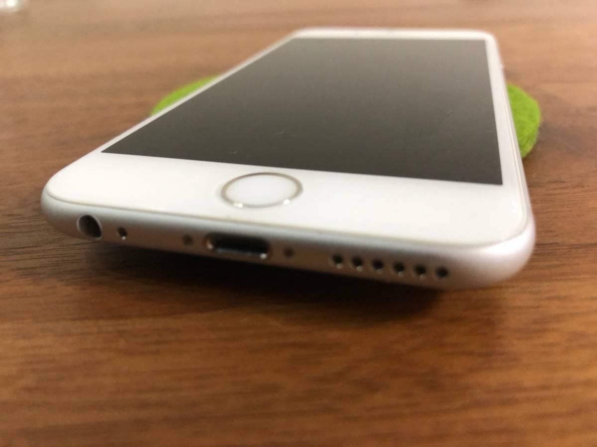 【美品】Apple iPhone6s 128GB シルバー / au購入 SIMロック解除済み SIMフリー_画像6