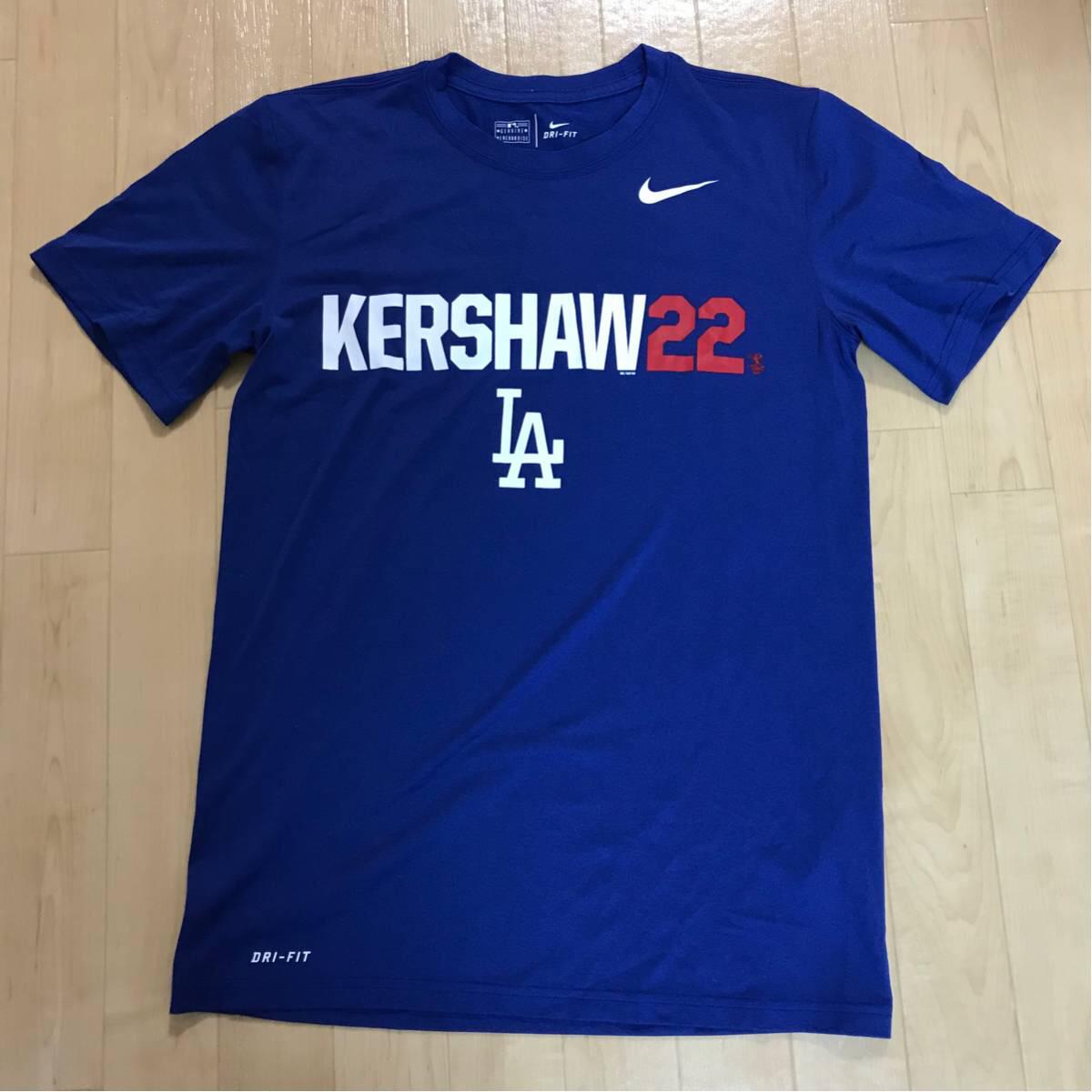 ロサンゼルス ドジャース クレイトン・カーショー LGD ニックネーム Tシャツ Sサイズ MLB NIKE ナイキ LA グッズの画像