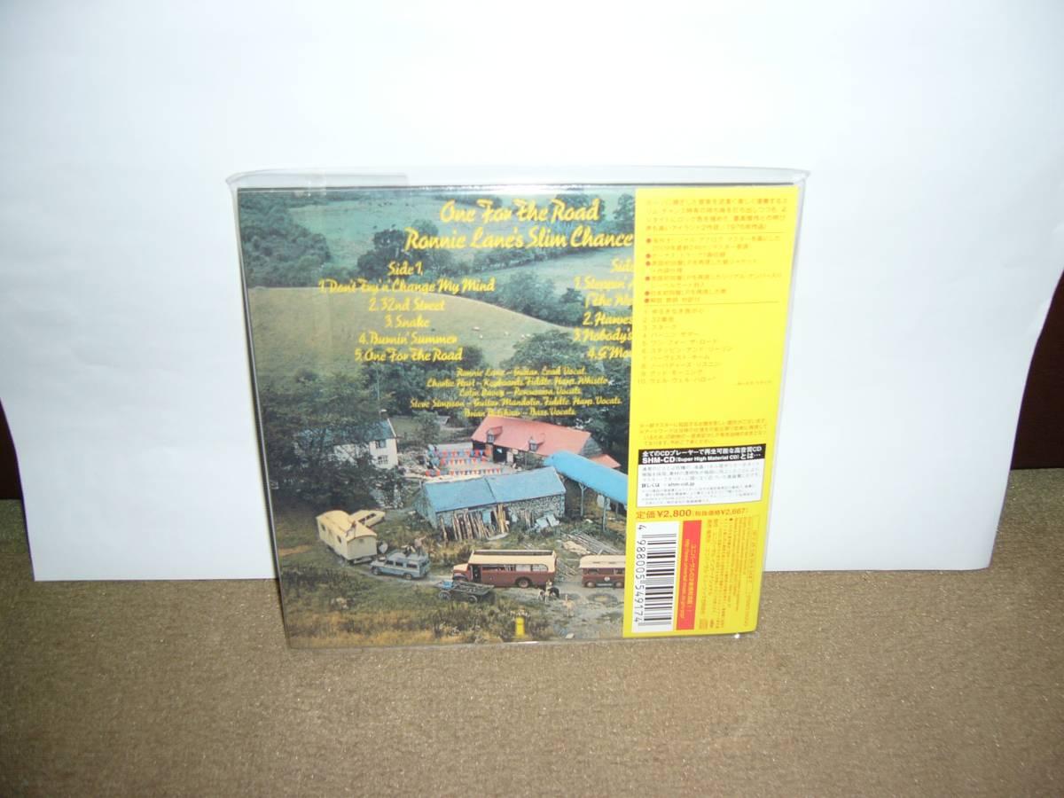 Ronnie Lane's Slim Chance実質2nd作 隠れ名盤「One For The Road」 日本独自リマスターSHM-CD紙ジャケット仕様限定盤 国内盤未開封新品。_未開封新品でございます。