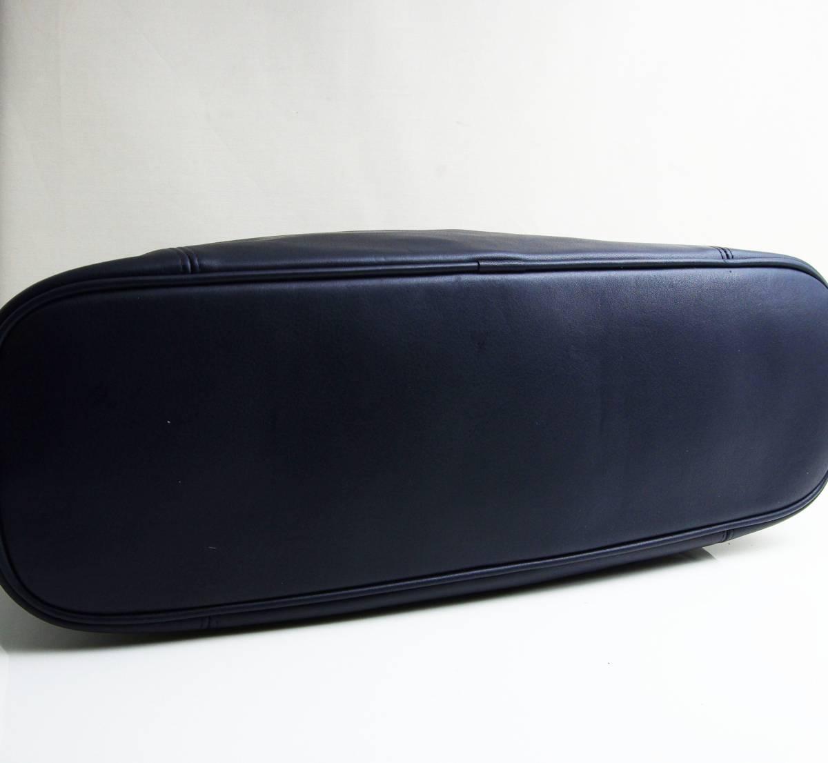 デットストック 極美品 オールドコーチ COACH トートバッグ ビジネスバッグ モスネイビー レザー メンズバッグ 牛革 A4ファイル 定価6万_画像3