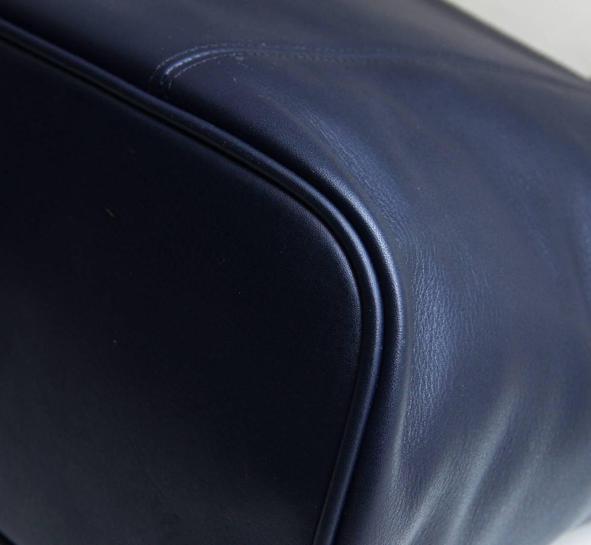 デットストック 極美品 オールドコーチ COACH トートバッグ ビジネスバッグ モスネイビー レザー メンズバッグ 牛革 A4ファイル 定価6万_画像5