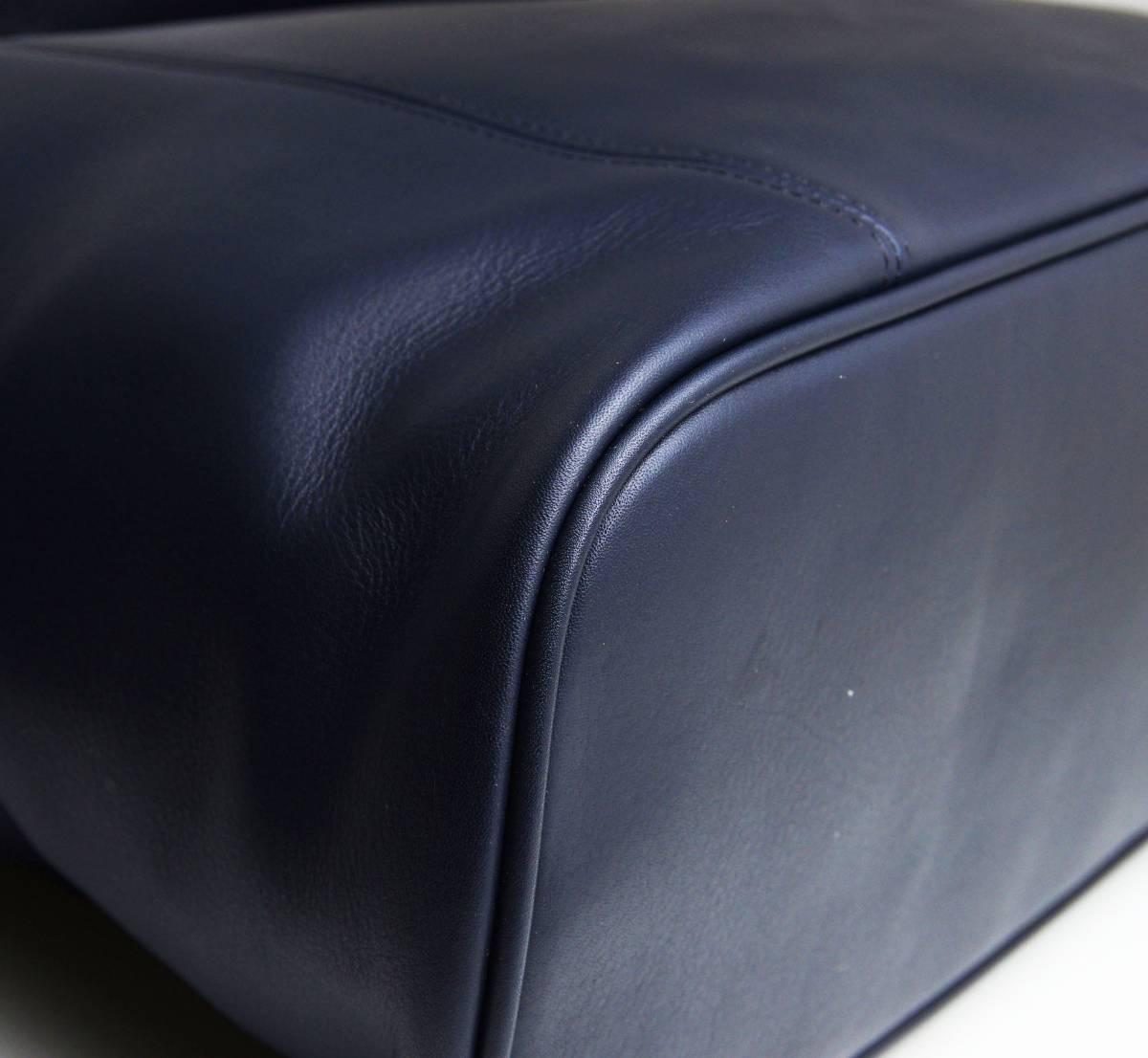 デットストック 極美品 オールドコーチ COACH トートバッグ ビジネスバッグ モスネイビー レザー メンズバッグ 牛革 A4ファイル 定価6万_画像4