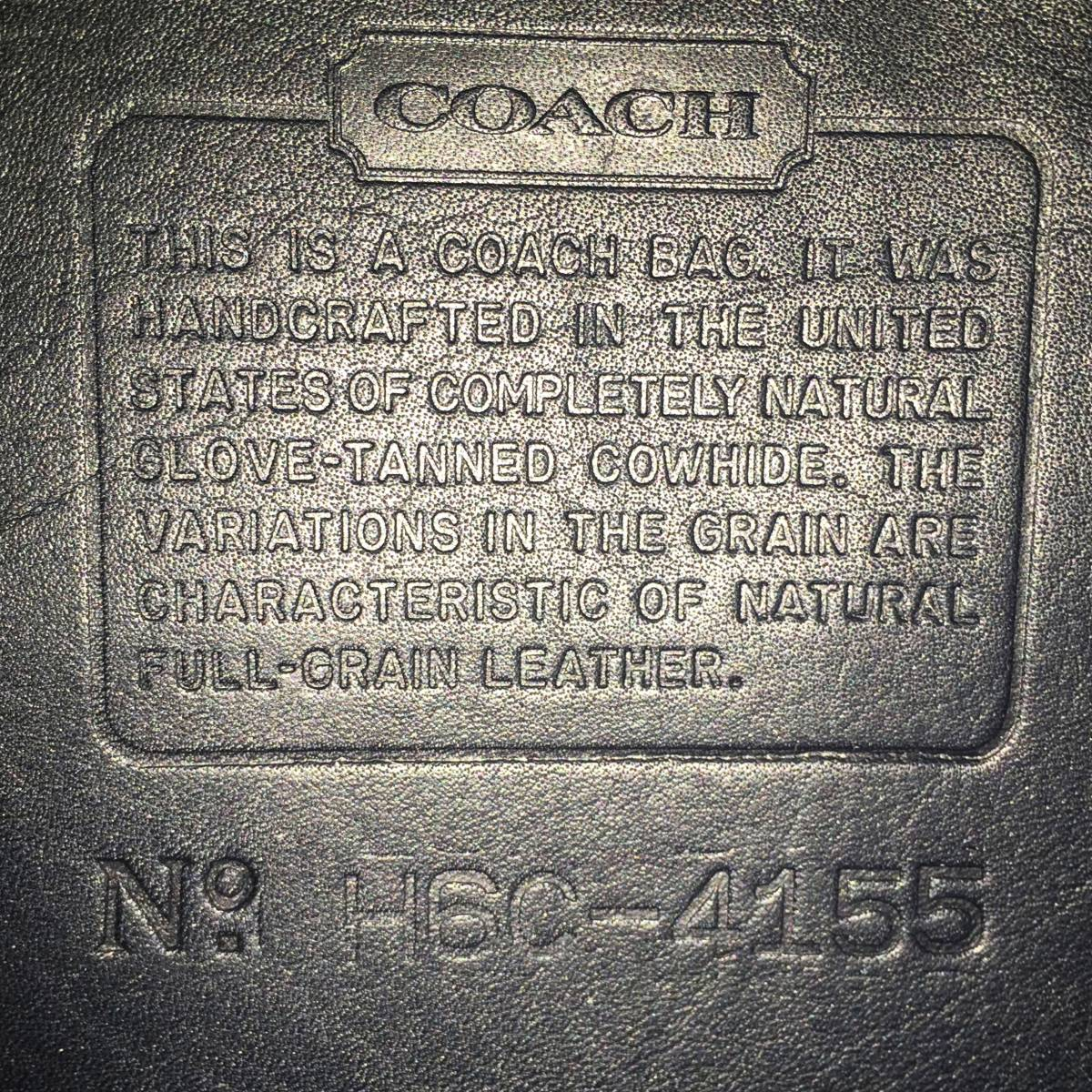 デットストック 極美品 オールドコーチ COACH トートバッグ ビジネスバッグ モスネイビー レザー メンズバッグ 牛革 A4ファイル 定価6万_画像10