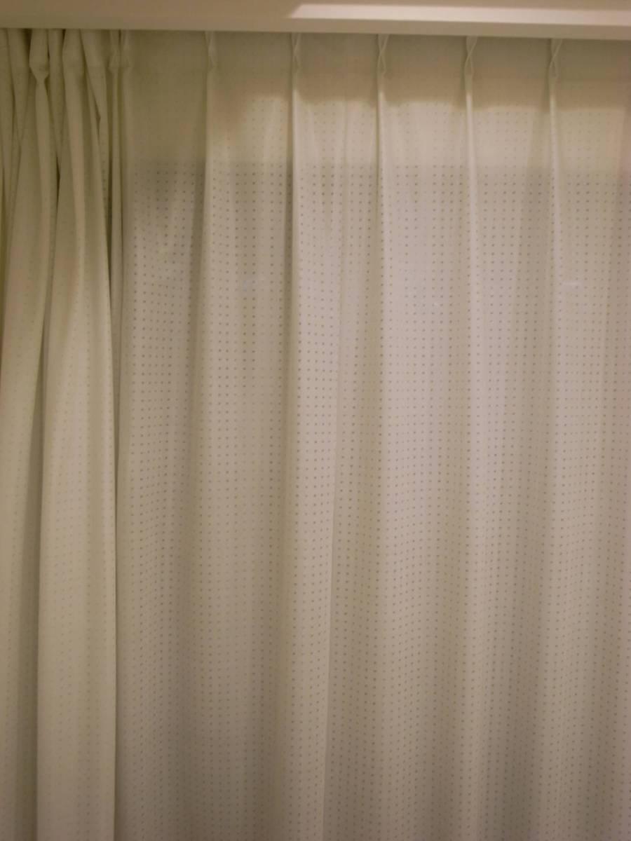 220 x 150 cm ニトリ レース カーテン ホワイト  - ヤフオク!