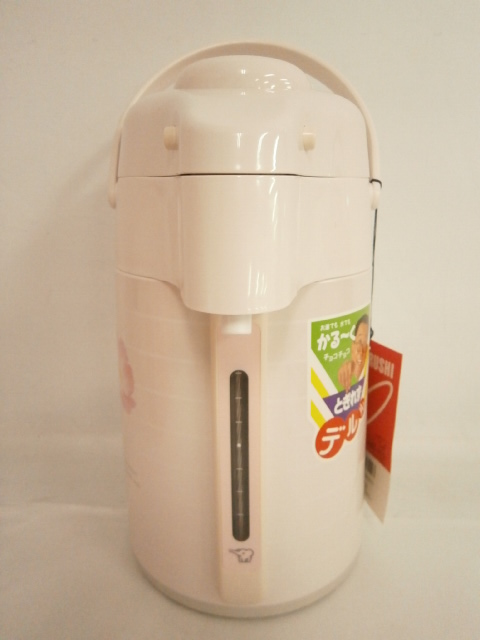 1スタ 未使用品 ZOJIRUSHI 象印 押すだけポット AAD-H22 デ・ル・ル 昭和レトロ 魔法瓶 花柄/茶器 卓上ポット/ZGT-28_画像2