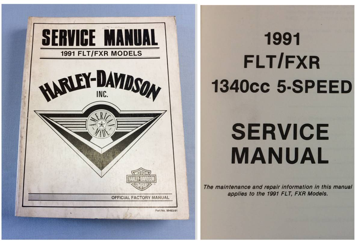 FLT FXR 91-92 Lowrider other Harley original service manual