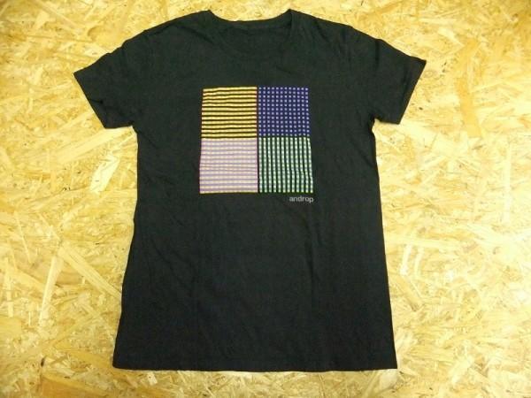 androp アンドロップ カラフルドットデザイン バンドTシャツ 黒 S ロック