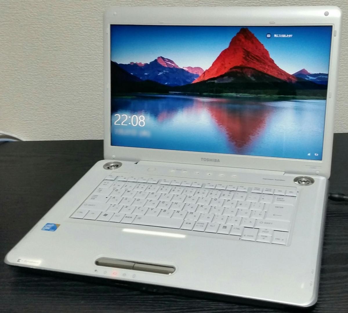 美品☆超速★大容量SSHD新品1000G(SSD内蔵) dynabook Win10 Office AC付 4GB 高音質harman/kardonスピーカー[DVD-Blu-ray]ホワイト♪特典有