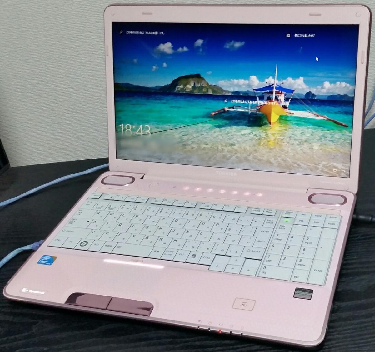 16型美☆超速★大容量SSHD新品1000G(SSD内蔵) dynabook Win10 Office Blu-ray AC付 4GB 高音質harman/kardonスピーカー 稀少ピンク♪送無★