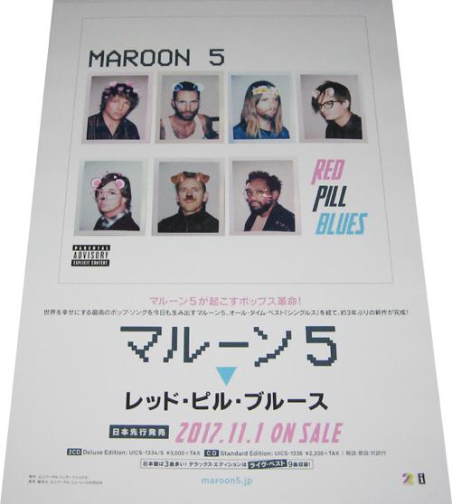 ●マルーン5 MAROON5 レッド・ピル・ブルース CD告知ポスター