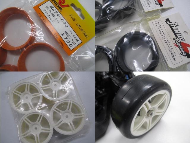 TT-02 メーカーテストカー 新品 (中古のオマケボディ付き)_タイヤ関係です。ハイグリップタイヤです