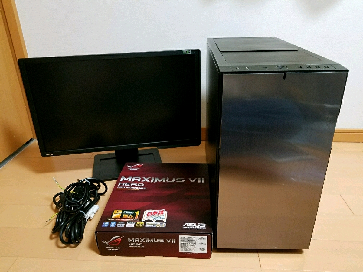 ★ 1円~ 激速静音! ゲーミングPC ゲーミングモニタセット ハイエンド Core i7 4790K/GTX980/HDD1TB/SSD128GB/メモリ16gb FF14 DQ10