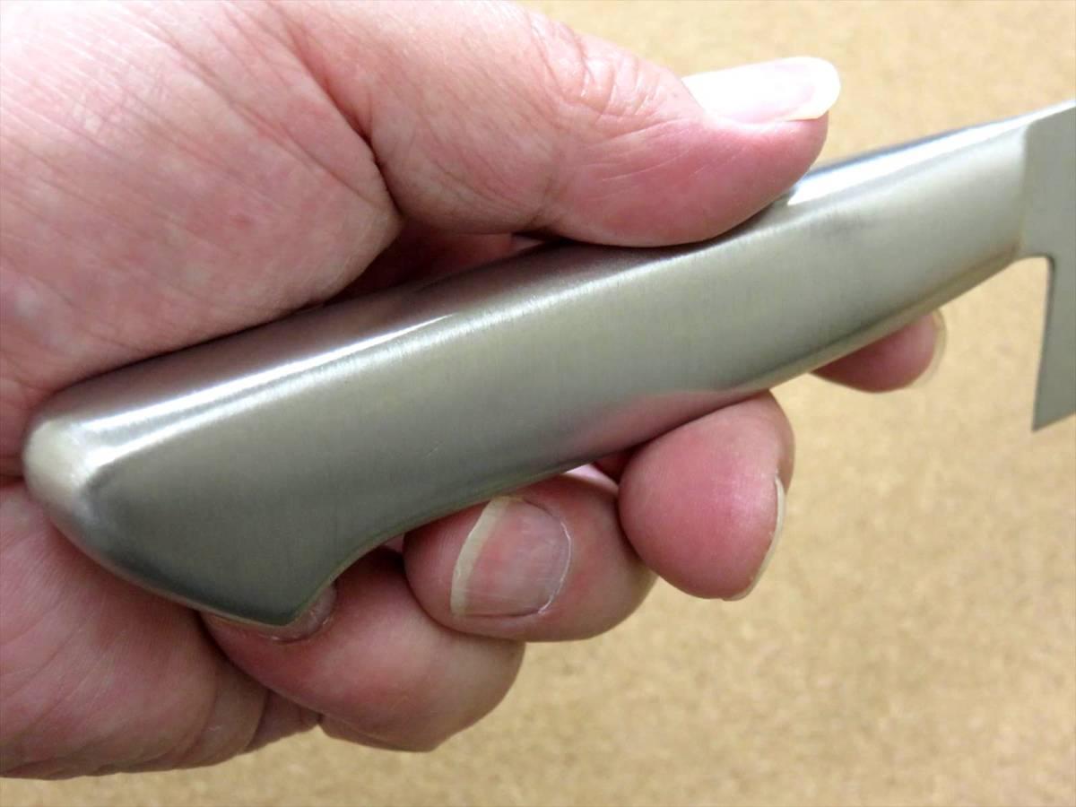 関の刃物 三徳包丁 17cm (170mm) PISCES (パイシーズ) モリブデン ステンレス一体型ハンドル 野菜 魚の処理 肉切り 両刃万能包丁 文化包丁_画像9