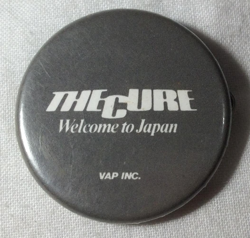 感バッジ THE CURE Welcome to Japan ザ・キュア