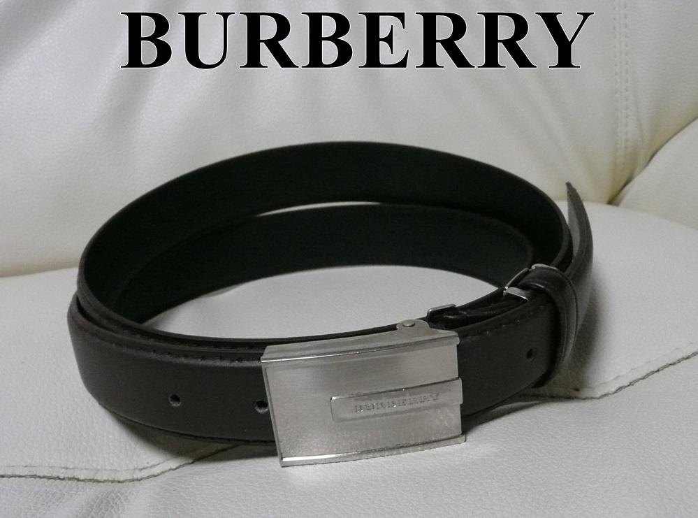 1円 送料無料 本物◆◆大特価 バーバリー BURBERRY ベルト 良品◆◆メンズ 革 バックル ブランド