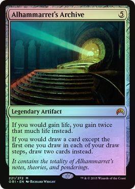 え銀Foil アルハマレットの書庫 1枚(3枚在庫 英 良品 ORI)/Alhammarret's Archive(MTG /マジック・オリジン/Magic Origins/)