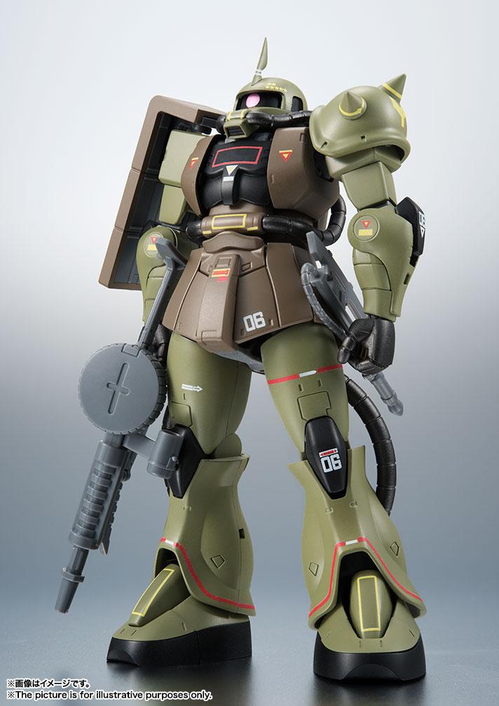 バンダイ ROBOT魂 <SIDE MS> MS-06 量産型ザク ver. A.N.I.M.E. ~リアルタイプカラー~ パッケージ潰れあり未開封品!