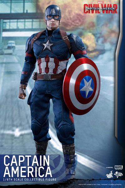 ムービー・マスタービース シビル・ウォー/キャプテンアメリカ ホットトイズ 映画グッズの画像