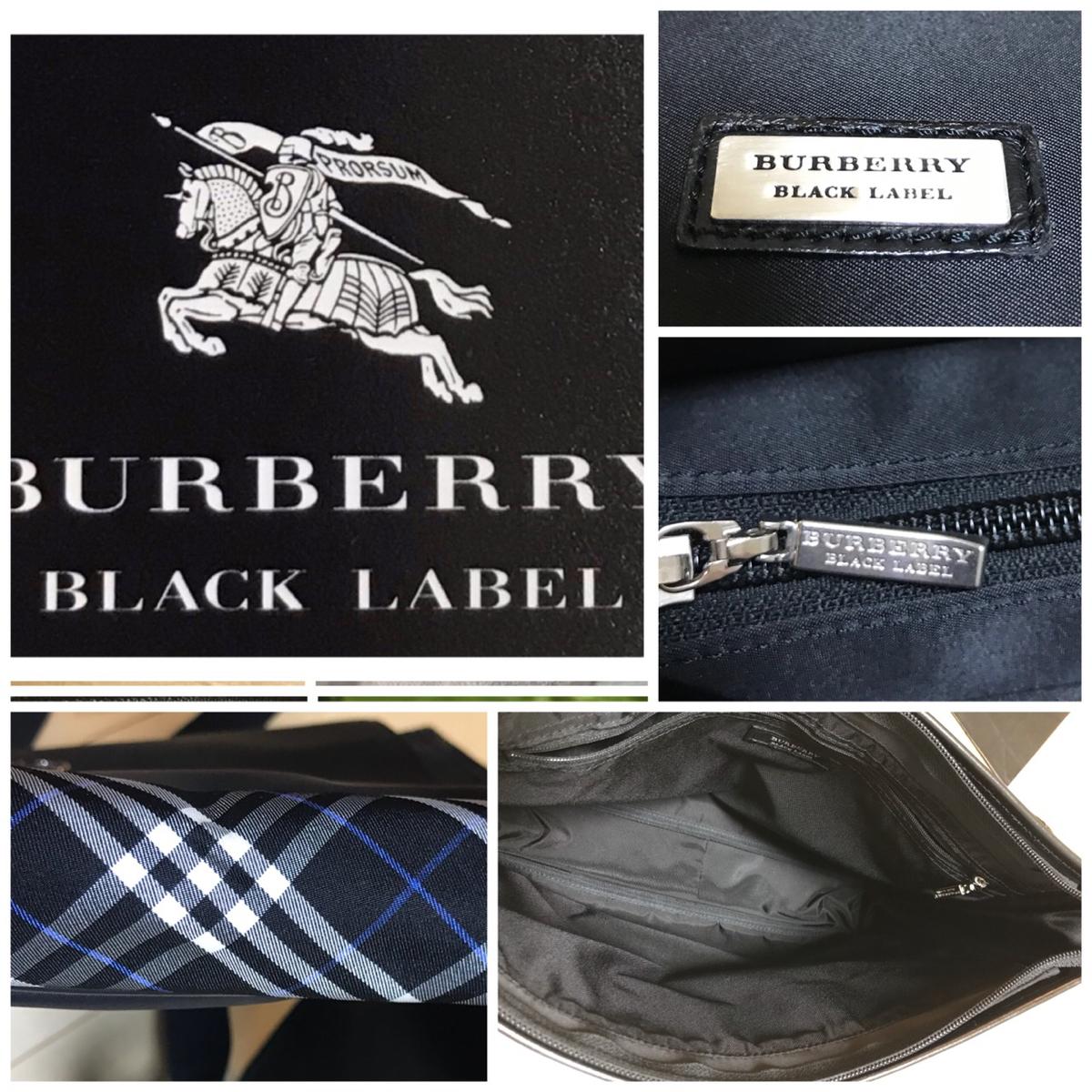 バーバリー ブラックレーベル ショルダー バッグ レア 本物 1円 blacklabel Burberry バック 鞄 ビジネス カジュアル 未使用品_画像3